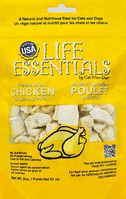 Life Essentials Chicken Freeze-Dried Cat & Dog Treats, 2-oz