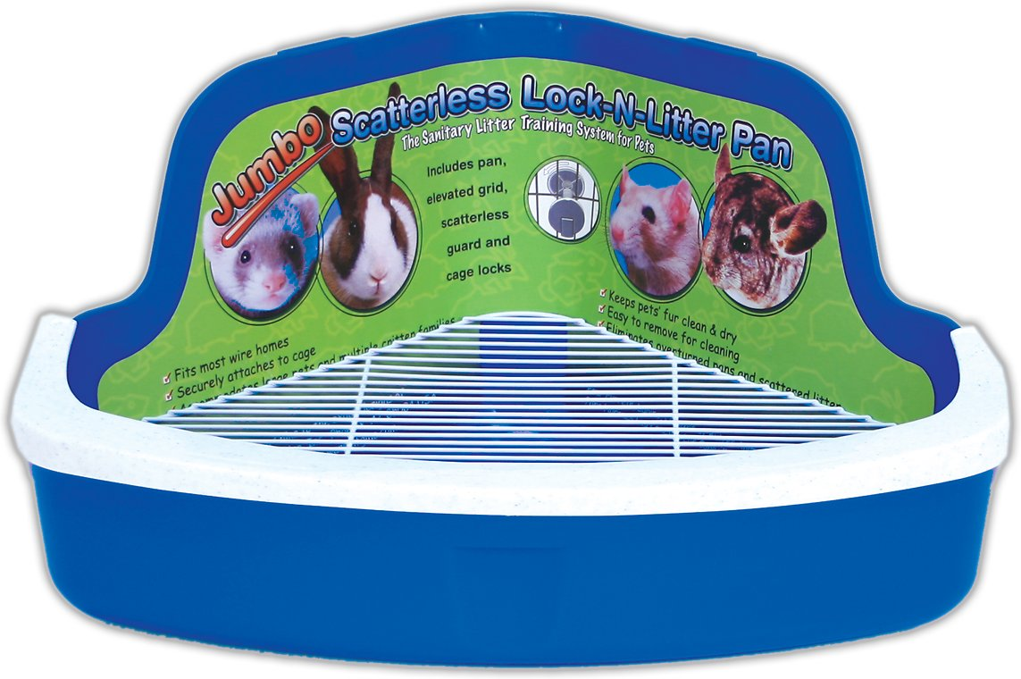 Ware Scatterless Lock-N-Litter Small Animal Litter Pan Image