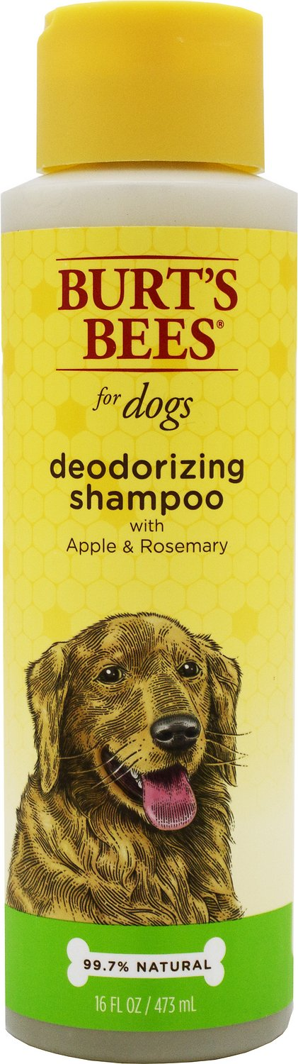 Burt's Bees Deodorizing Shampoo with Apple & Rosemary for Dogs, 16-oz bottle