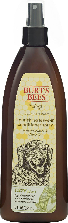Burt's Bees Care Plus+ Avocado & Olive Oil Nourishing Leave-In Conditioner Dog Spray, 12-oz bottle