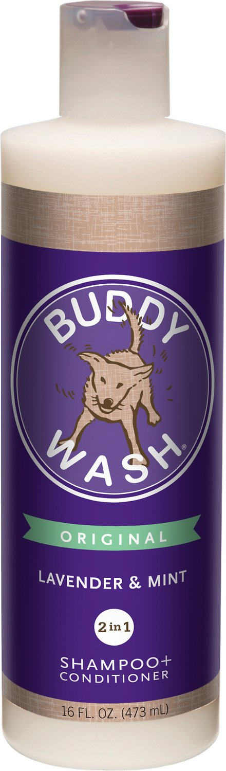 Buddy Wash Original Lavender & Mint Dog Shampoo & Conditioner, 16-oz bottle