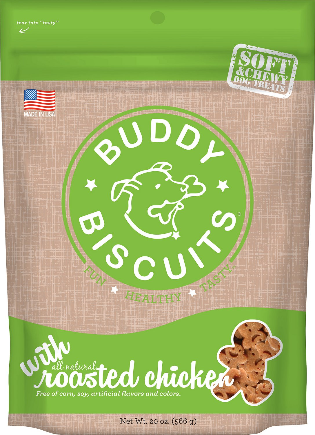 Buddy Biscuits with Roasted Chicken Soft & Chewy Dog Treats Image
