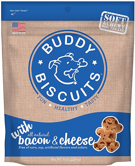 Buddy Biscuits with Bacon & Cheese Soft & Chewy Dog Treats Image