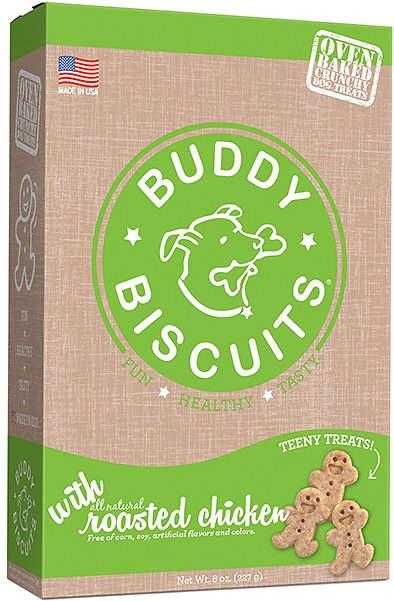 Buddy Biscuits Oven Baked Teeny Treats with Roasted Chicken, 8-oz box (Weights: 8oz) Image