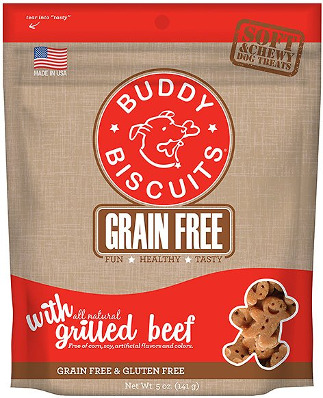 Buddy Biscuits Grain-Free Soft & Chewy with Slow Roasted Beef Dog Treats, 5-oz bag Image
