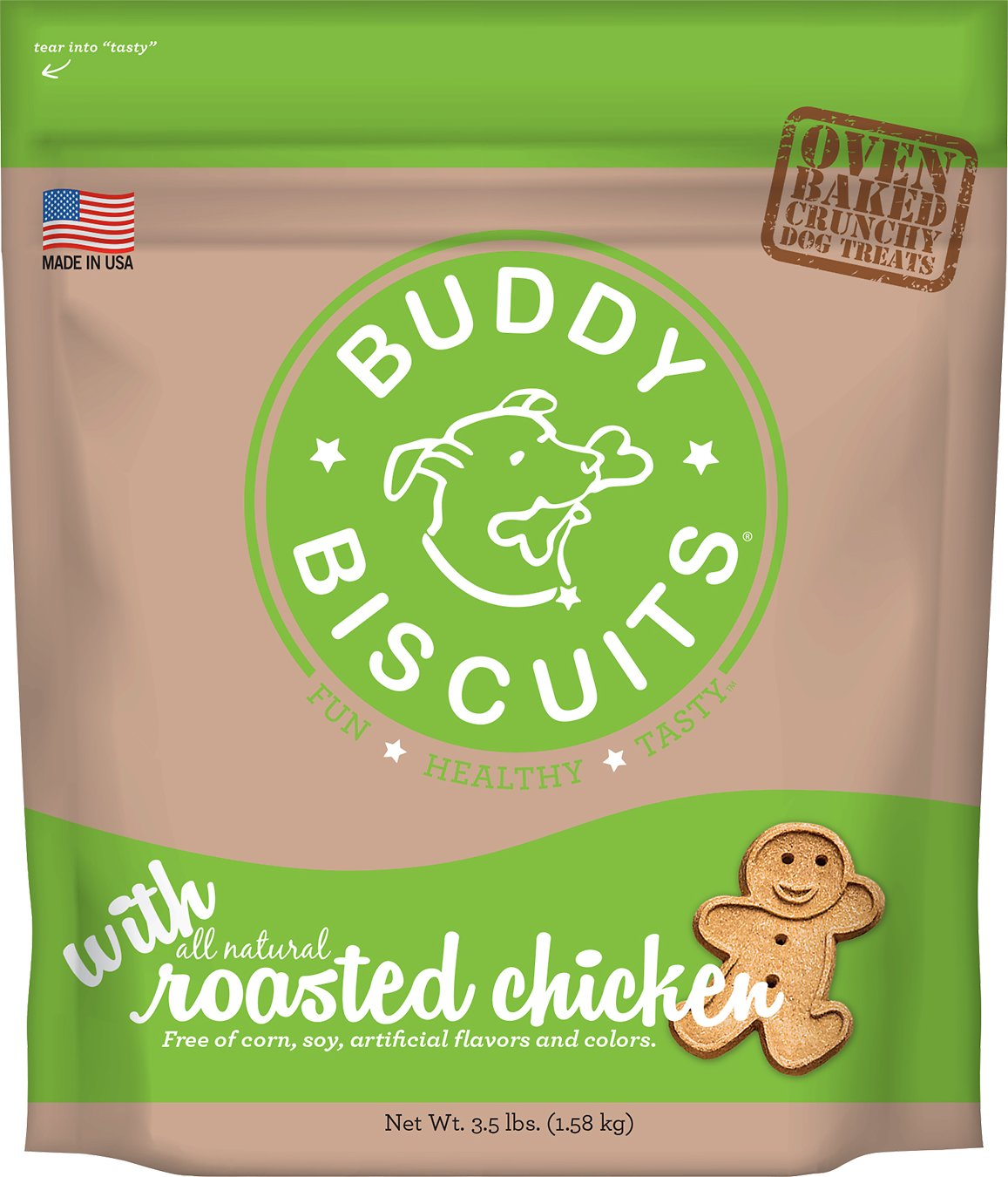 Buddy Biscuits with Roasted Chicken Oven Baked Dog Treats Image