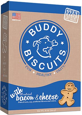 Buddy Biscuits Oven Baked Teeny Treats with Bacon & Cheese Dog Treats, 8-oz