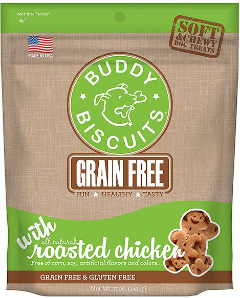Buddy Biscuits Grain-Free Soft & Chewy with Rotisserie Chicken Dog Treats, 5-oz bag Image