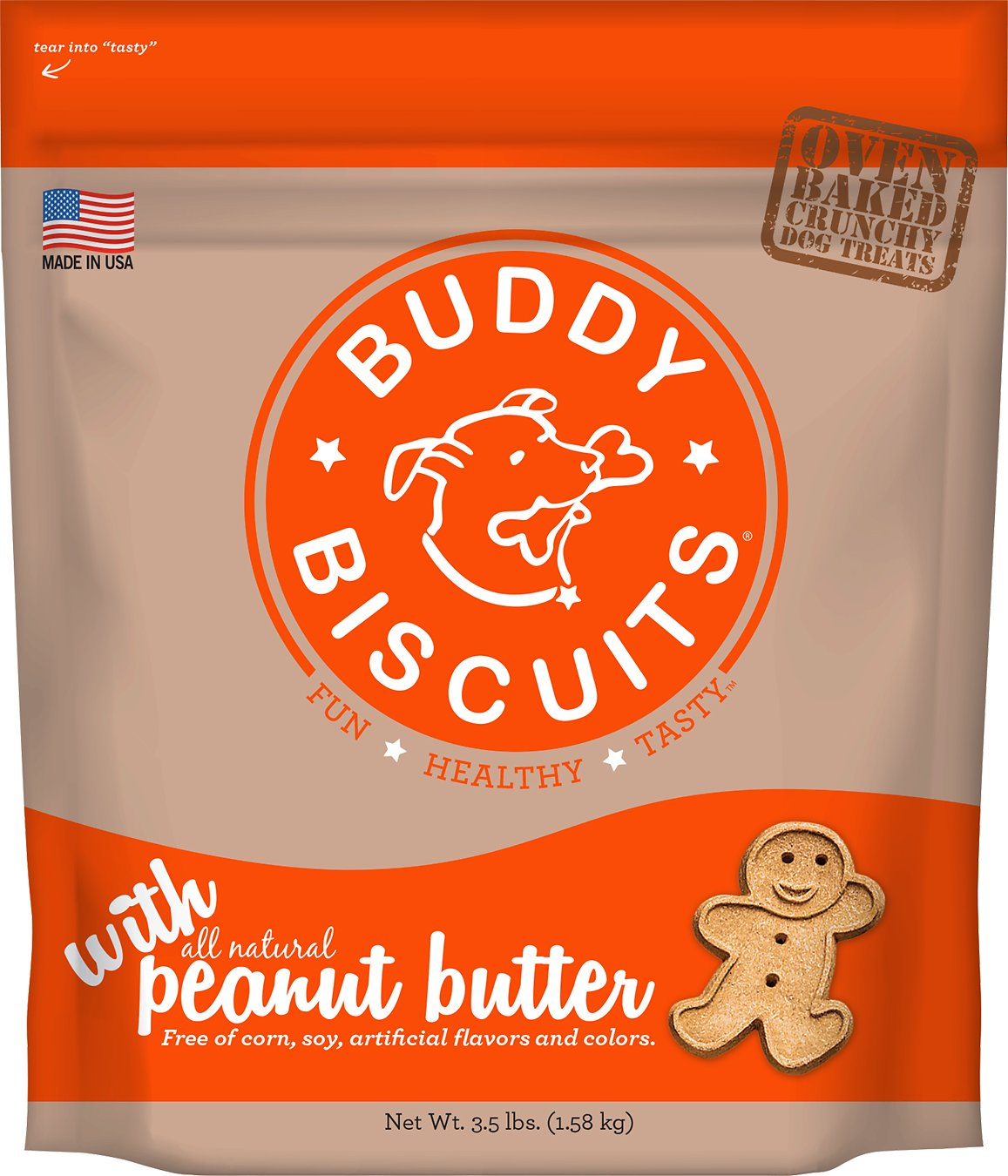Buddy Biscuits with Peanut Butter Oven Baked Dog Treats Image
