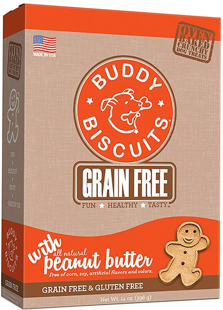 Buddy Biscuits Grain-Free Oven Baked with Homestyle Peanut Butter Dog Treats, 14-oz box Image