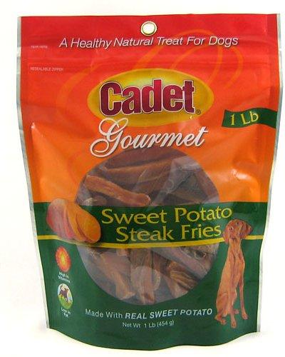 IMS Trading Cadet Gourmet Sweet Potato Steak Fries Dog Treats, 1-lb bag