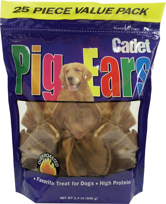 IMS Trading Cadet Pig Ears Dog Treats, 25 count