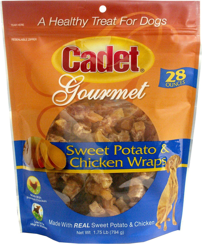 Cadet Gourmet Sweet Potato & Chicken Wrap Dog Treats, 28-oz bag
