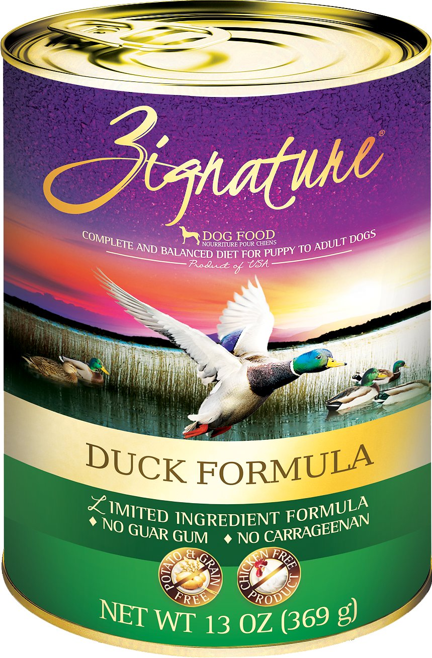 Zignature Duck Limited Ingredient Formula Grain-Free Canned Dog Food Image