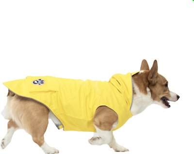 Canada Pooch Yellow Torrential Tracker Dog Raincoat, 14