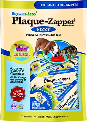 Ark Naturals Breath-Less Plaque Zapper Dog & Cat Pouches, Small to Medium