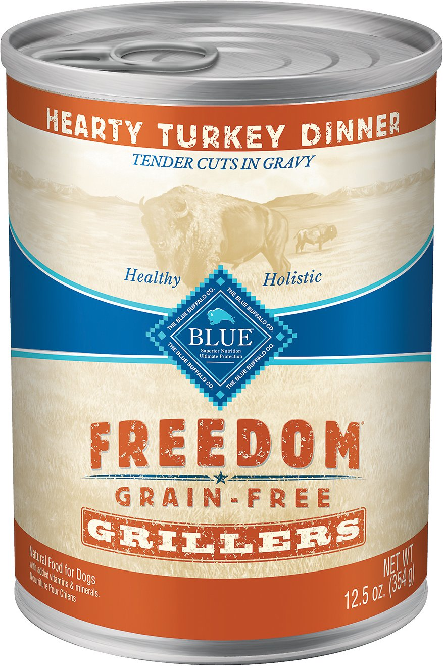 Blue Buffalo Freedom Grillers Hearty Turkey Dinner Grain-Free Canned Dog Food Image