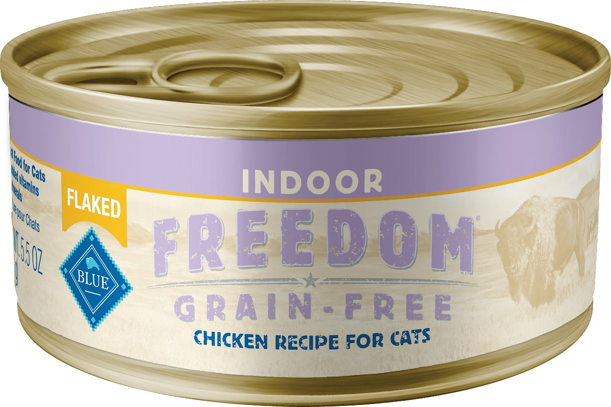 Blue Buffalo Freedom Indoor Flaked Chicken Recipe Grain-Free Canned Cat Food Image