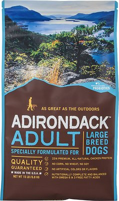 Adirondack Large Breed Recipe Dry Dog Food, 30-lb