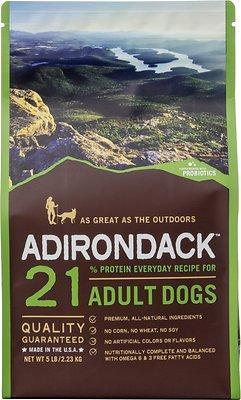Adirondack 21% Adult Everyday Recipe Dry Dog Food, 30-lb bag