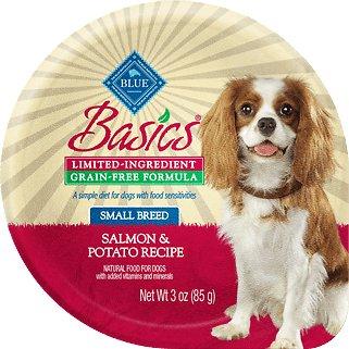 Blue Buffalo Basics Limited Ingredient Grain-Free Salmon & Potato Small Breed Adult Wet Dog Food, 3-oz