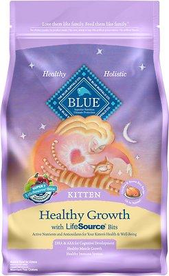 Blue Buffalo Healthy Growth Kitten Chicken & Brown Rice Recipe Dry Cat Food, 7-lb bag