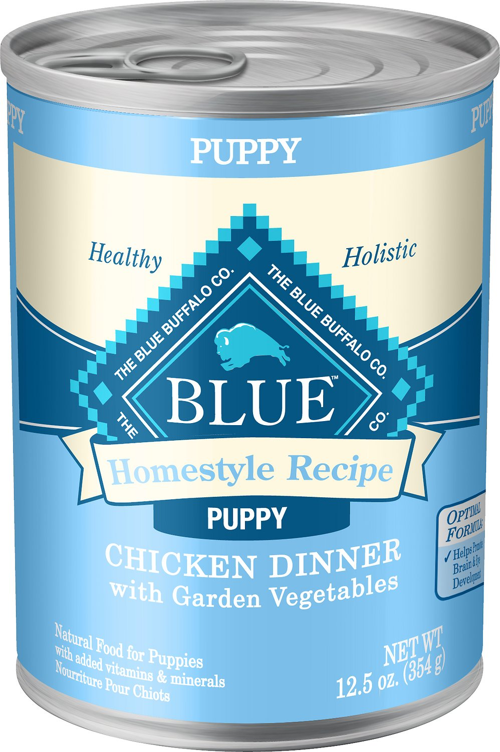 Blue Buffalo Homestyle Recipe Puppy Chicken Dinner with Garden Vegetables Canned Dog Food Image