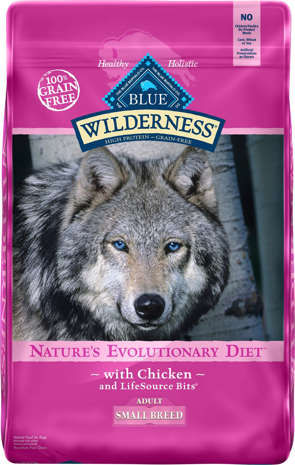 Blue Buffalo Wilderness Small Breed Chicken Recipe Grain-Free Dry Dog Food Image