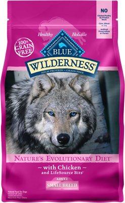 Blue Buffalo Wilderness Small Breed Chicken Recipe Grain-Free Dry Dog Food, 4.5-lb bag