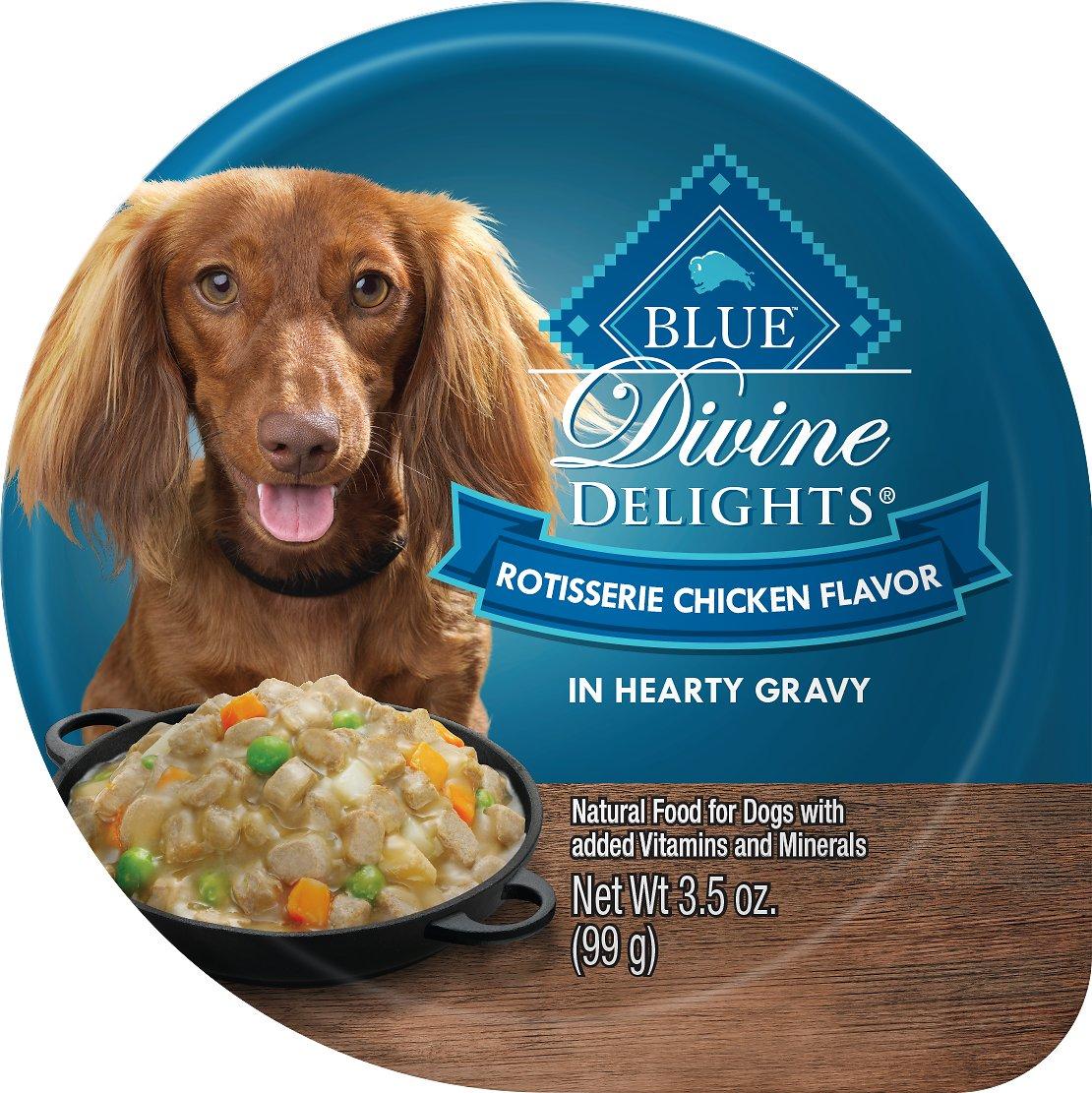 Blue Buffalo Divine Delights Rotisserie Chicken Flavor Hearty Gravy Dog Food Trays Image