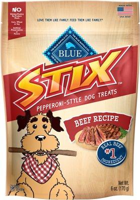 Blue Buffalo Blue Stix Beef Recipe Pepperoni-Style Dog Treats, 6-oz bag