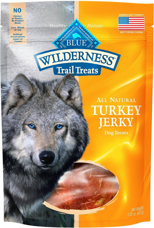 Blue Buffalo Wilderness Trail Treats Turkey Jerky Grain-Free Dog Treats, 3.25-oz