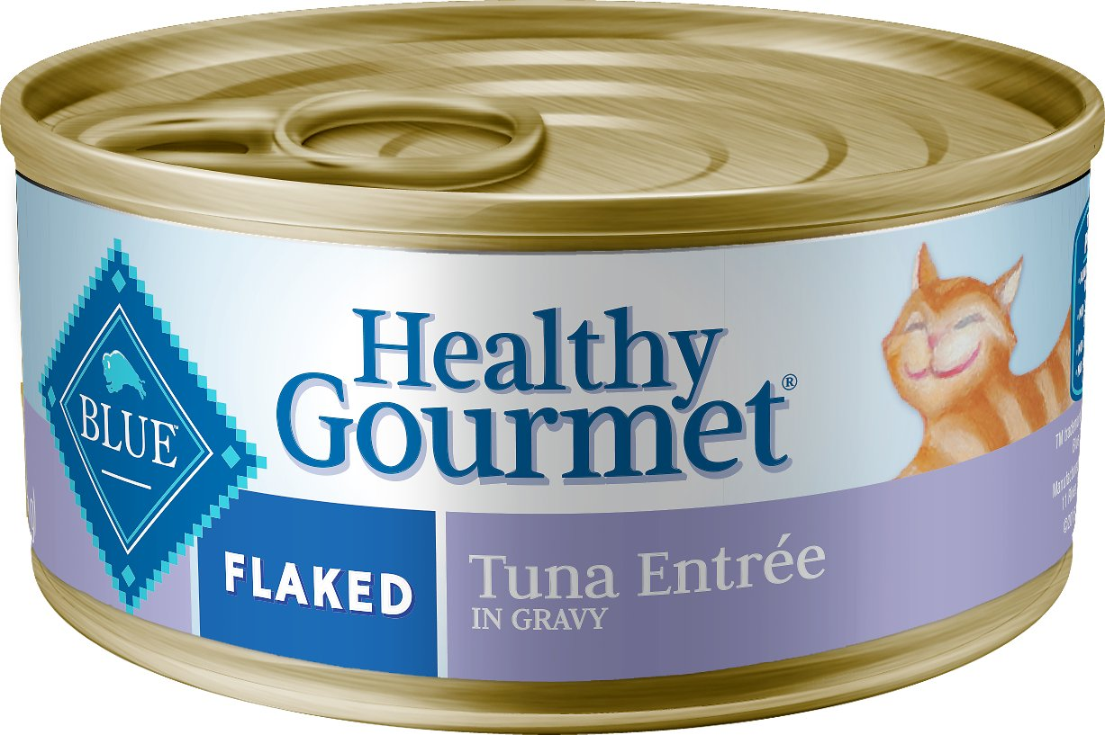 Blue Buffalo Healthy Gourmet Flaked Tuna Entree in Gravy Canned Cat Food, 5.5-oz