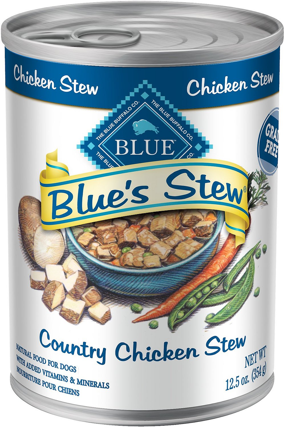 Blue Buffalo Blue's Country Chicken Stew Grain Free Canned Dog Food Image