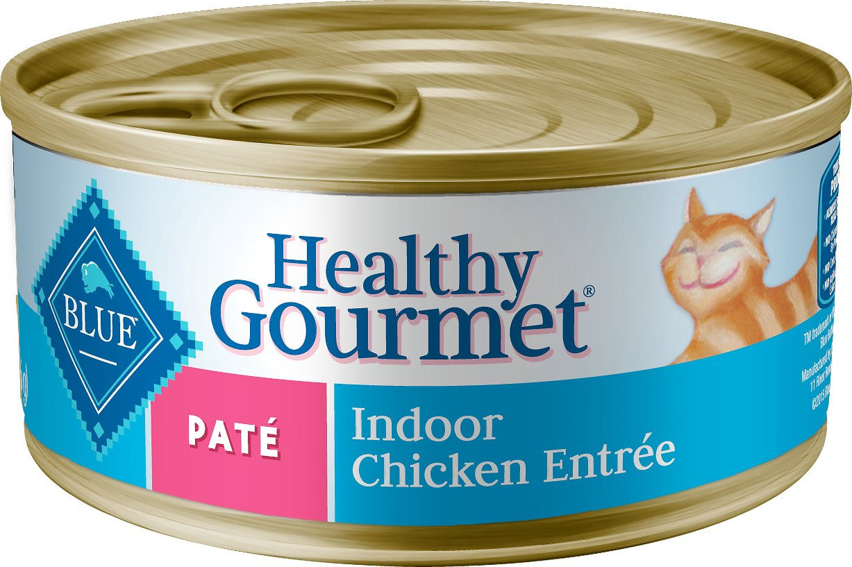 Blue Buffalo Healthy Gourmet Pate Chicken Entree Indoor Adult Canned Cat Food, 12.5-oz