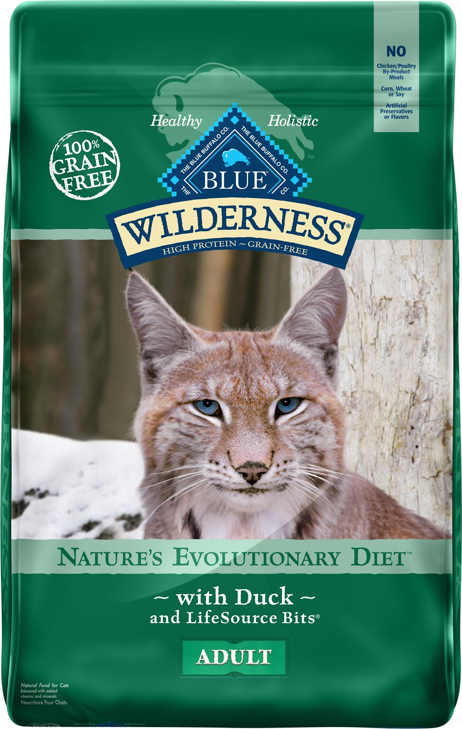 Blue Buffalo Wilderness Duck Recipe Grain-Free Dry Cat Food Image