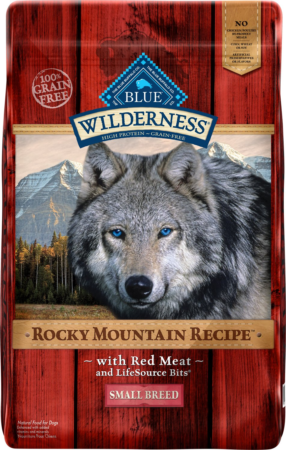Blue Buffalo Wilderness Rocky Mountain Recipe with Red Meat Small Breed Grain-Free Dry Dog Food Image