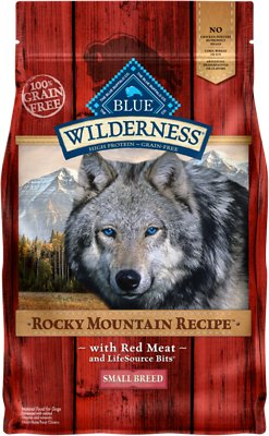 Blue Buffalo Wilderness Rocky Mountain Recipe with Red Meat Small Breed Grain-Free Dry Dog Food, 4-lb bag