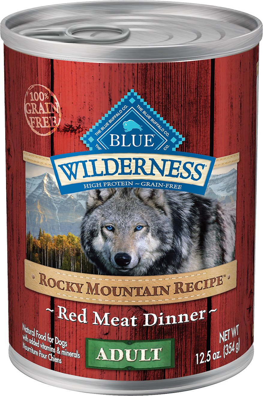 Blue Buffalo Wilderness Rocky Mountain Recipe Red Meat Dinner Adult Grain-Free Canned Dog Food Image