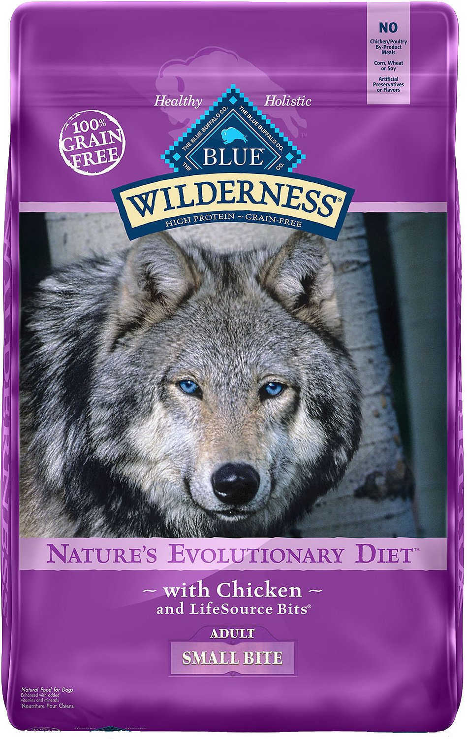 Blue Buffalo Wilderness Adult Small Bite Chicken Recipe Grain-Free Dry Dog Food Image
