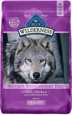 Blue Buffalo Wilderness Adult Small Bite Chicken Recipe Grain-Free Dry Dog Food, 24-lb bag