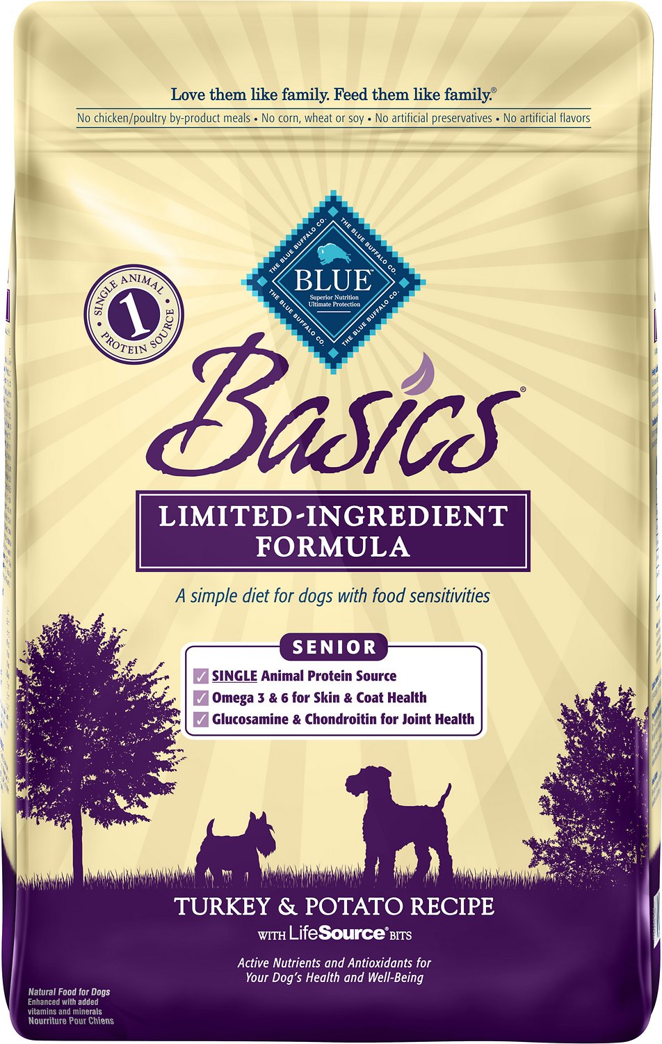 Blue Buffalo Basics Turkey & Potato Recipe Senior Dry Dog Food Image