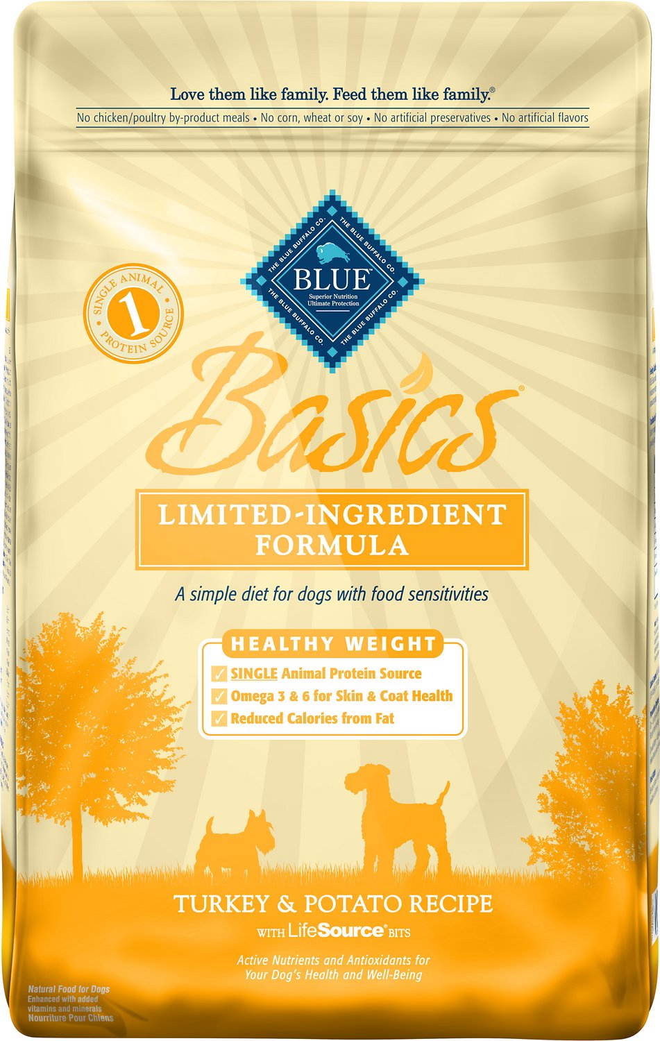 Blue Buffalo Basics Healthy Weight Turkey & Potato Recipe Adult Dry Dog Food Image