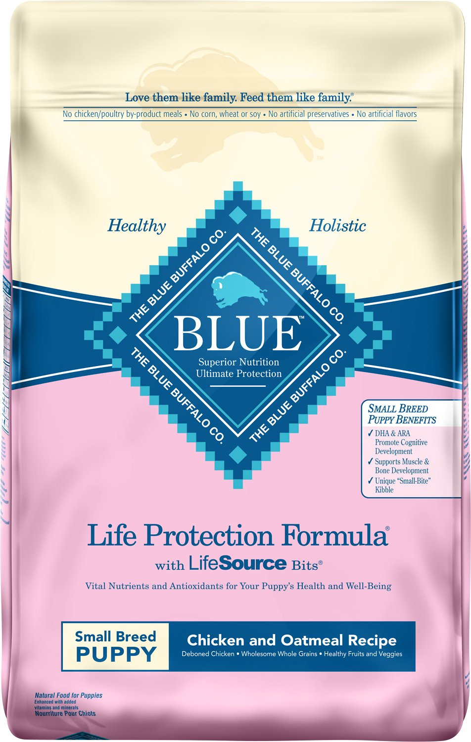 Blue Buffalo Life Protection Formula Small Breed Puppy Chicken & Oatmeal Recipe Dry Dog Food Image