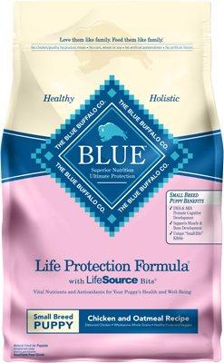 Blue Buffalo Life Protection Formula Small Breed Puppy Chicken & Oatmeal Recipe Dry Dog Food, 6-lb bag
