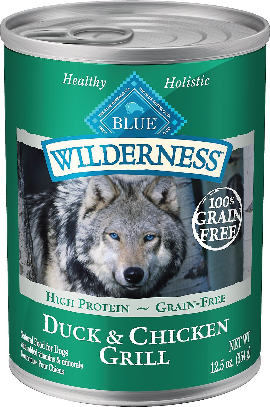 Blue Buffalo Wilderness Duck & Chicken Grill Grain-Free Canned Dog Food Image