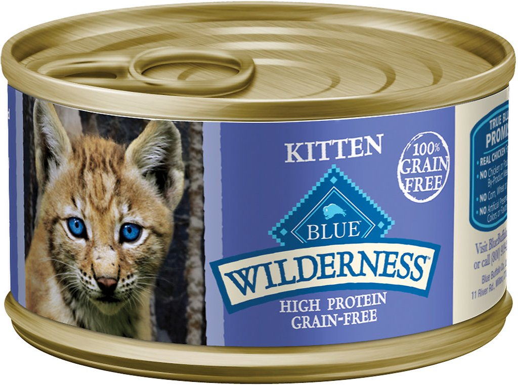 Blue Buffalo Wilderness Kitten Chicken Grain-Free Canned Cat Food Image