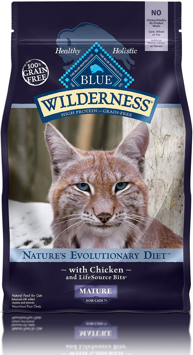 Blue Buffalo Wilderness Mature Chicken Recipe Grain-Free Dry Cat Food Image