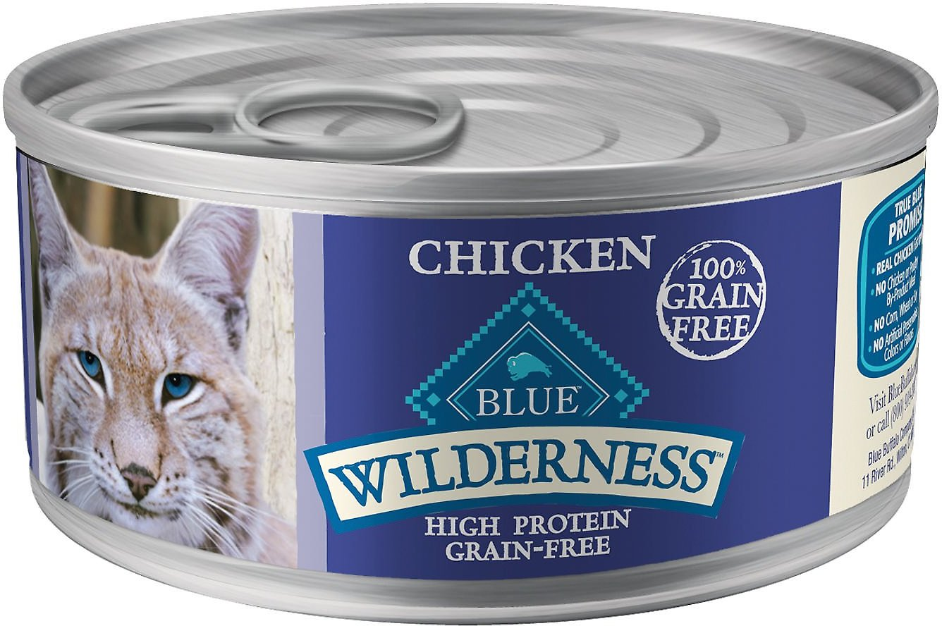 Blue Buffalo Wilderness Chicken Grain-Free Canned Cat Food Image