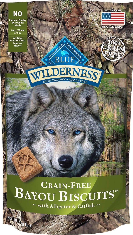 Blue Buffalo Wilderness Bayou Biscuits with Alligator & Catfish Grain-Free Dog Treats, 8-oz bag